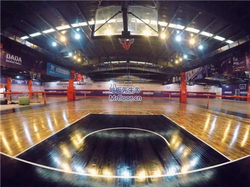 杭州洛克公园篮球馆体育地板翻新
