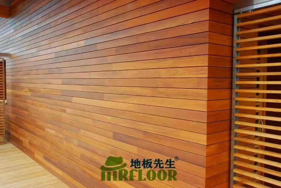 户外墙面刷木蜡油效果