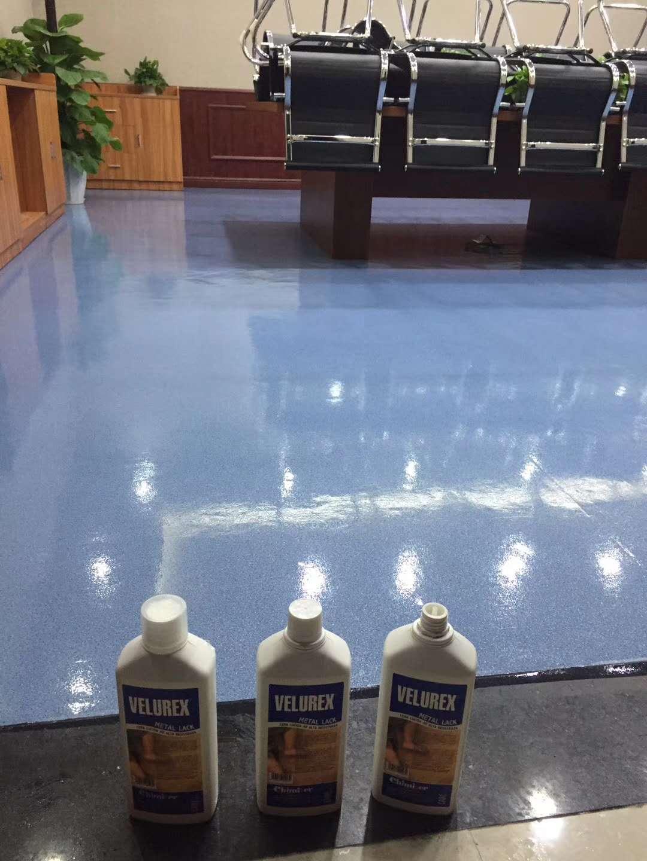 会议室PVC地板抛光打蜡